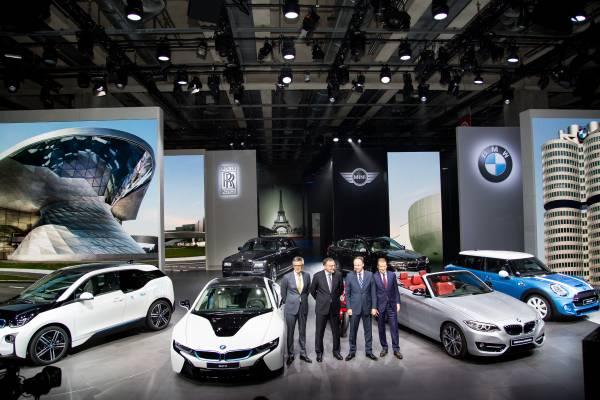 BMW Group Board Members (left to right): Peter Schwarzenbauer, Dr. Norbert Reithofer, Dr. Ian Robertson (HonDSc), Dr. Herbert Diess (10/2014).
