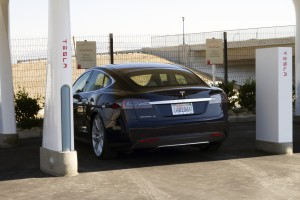 Tesla Supercharger Stations, a Green Exit Photo courtesy of Tesla