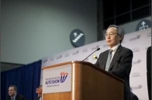 Energy Secretary Steven Chu at the Washington Auto Show Photo courtesy of the DOE 1-31-13 DOE Workplace Charging Challenge