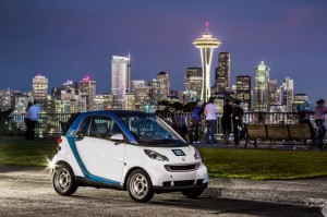 Car2Go Seattle WA Photo courtesy of Car2Go Smart Electric and Car2Go Potential