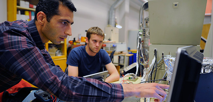 Saeid Haghbin and his co-workers have developed unique solutions for isolated and non-isolated integrated electrical vehicle chargers. Photo: Peter Widing Courtesy of Chalmers University of Technology