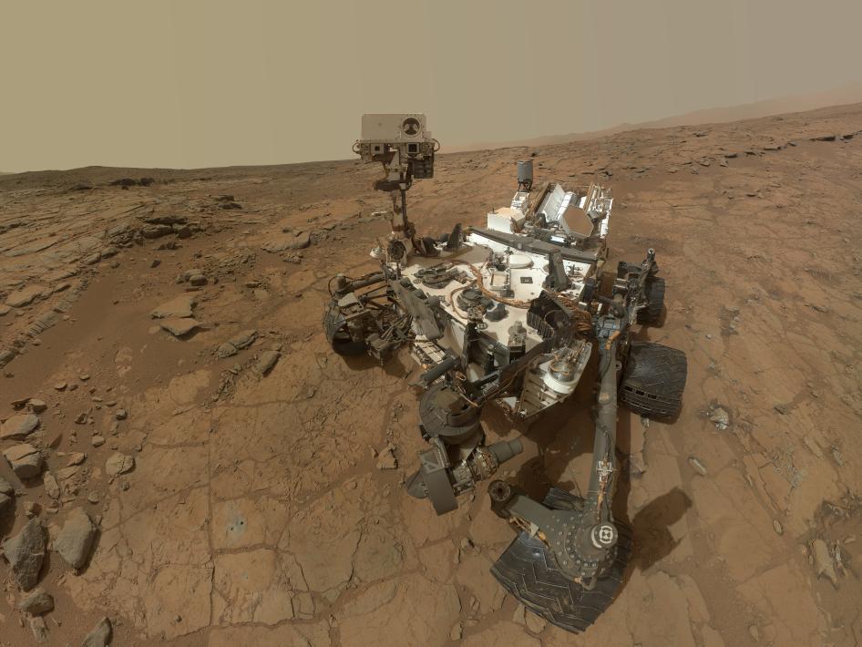 NASA's Curiosity Photo courtesy of Curiosity/NASA