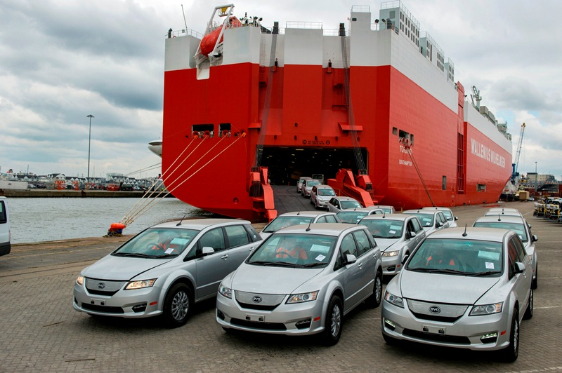 First BYD Electric e6 Cars Arrive In Europe And The UK Photo courtesy of BYD