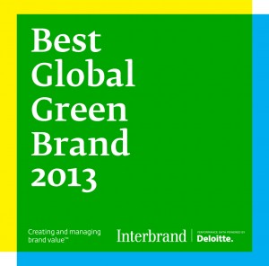 """YOKOHAMA, Japan (June 12, 2013) - Nissan has been named one of the world's greenest brands for 2013 in Interbrand's third annual Best Global Green Brands report. Noted for its leadership in zero emissions mobility with the Nissan LEAF 100% electric vehicle, Nissan was ranked fifth place overall out of 50 brands that were selected. Nissan moved up 16 positions from its 2012 showing and was named the """"top riser"""" in this year's report, which was released today by the leading brand consultant. Image courtesy of Nissan"""