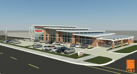 (3-7-13) Walgreens announced plans to build what the company believes will be the nation's first net zero energy retail store, which engineers predict will produce energy equal to or greater than it consumes. Walgreens plans to achieve that by utilizing solar panels, wind turbines, geothermal technology, energy-efficient building materials, LED lighting and ultra-high-efficiency refrigeration. The store will be located in Evanston, Ill. Photo: Business Wire Courtesy of Walgreens