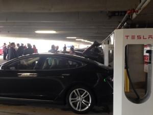 Normal, IL, Tesla Supercharger station Photo courtesy of Tesla