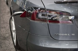 Tesla Model S, all-electric, zero-emissions Washington Auto Show Photo courtesy of US Department of Energy