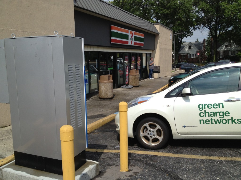 7-Eleven DC Fast Charger Photo courtesy of Green Charge Networks