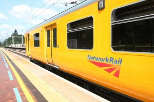 Network Rail's ERTMS lab train on test at Berkhamstead Photo courtesy of Network Rail