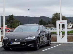 First European Supercharger station Photo courtesy of Tesla