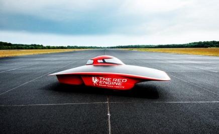 Solar team Twente, solar car Red Engine Photo courtesy of Bridgestone World Solar Challenge