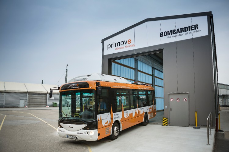 PRIMOVE bus at Mannheim bus depot  Courtesy of Bombardier