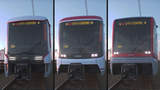 Calgary citizens to vote on three different designs of Siemens S200 light rail Image courtesy of City of Calgary