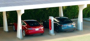 Model S at Supercharger Photo courtesy of Tesla