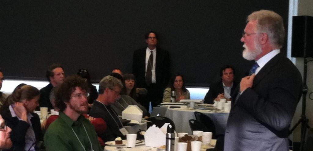 Lancaster Mayor Rex Paris speaking at San Francisco 100% Renewable Conference