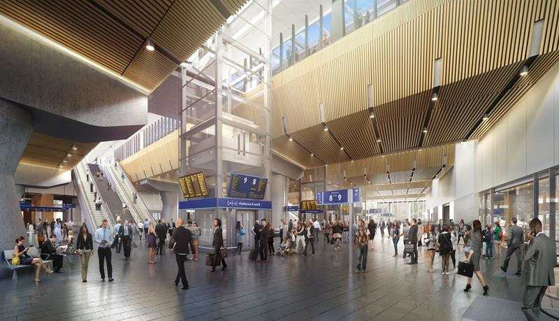 CGI of new London Bridge station as it will be when finished  Image courtesy of Network Rail