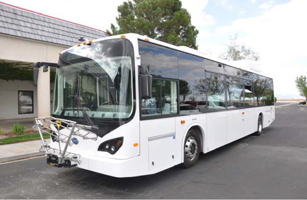 The BYD electric transit bus in front of the BYD Motors Assembly Plant in Lancaster, CA Photo courtesy of BYD