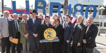 Celebrating LIRR 180th anniversary Photo courtesy of NYMTA