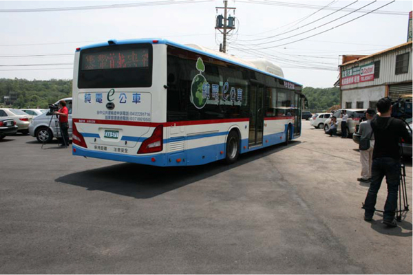 Pictured Above: Taiwan's first Battery Electric Transit Bus Photo courtesy of BYD