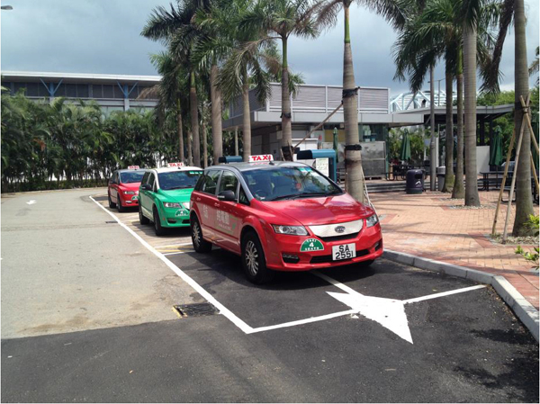 Pictured Above: Three of Hong Kong's e6 Electric Taxi Cabs Photo courtesy of BYD