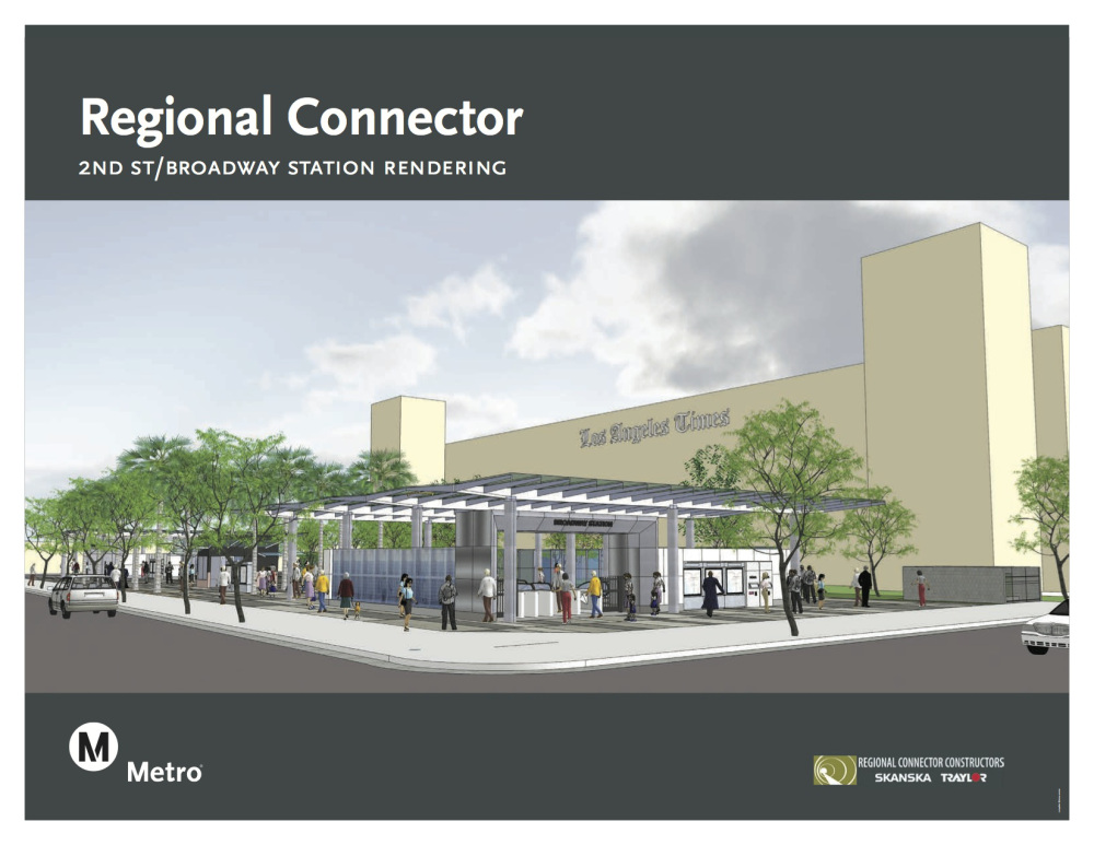 2nd St. / Broadway Station rendering