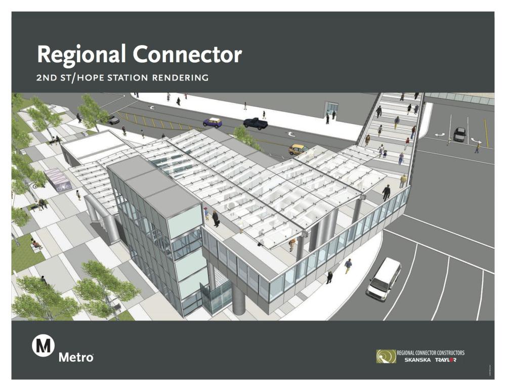 2nd St. / Hope Station rendering