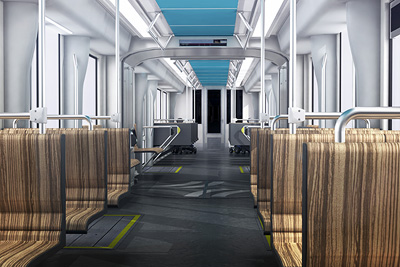 In the picture: One of 2 Siemens-proposed interiors currently under consideration by the SFMTA.