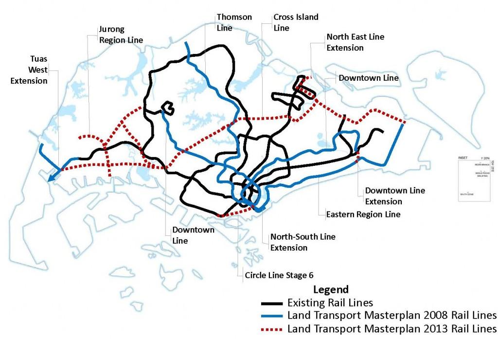 Map courtesy of Land Transport Authority