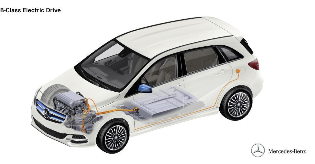 Phantom grafics Mercedes-Benz B-Class Electric Drive Image courtesy of Daimler