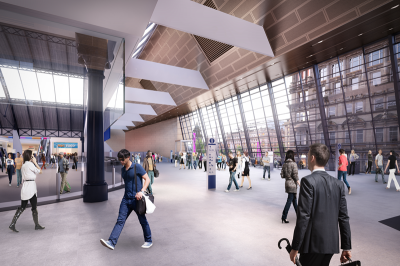 Queen Street - Internal Image courtesy of Network Rail New Glasgow Train Station Designs Unveiled