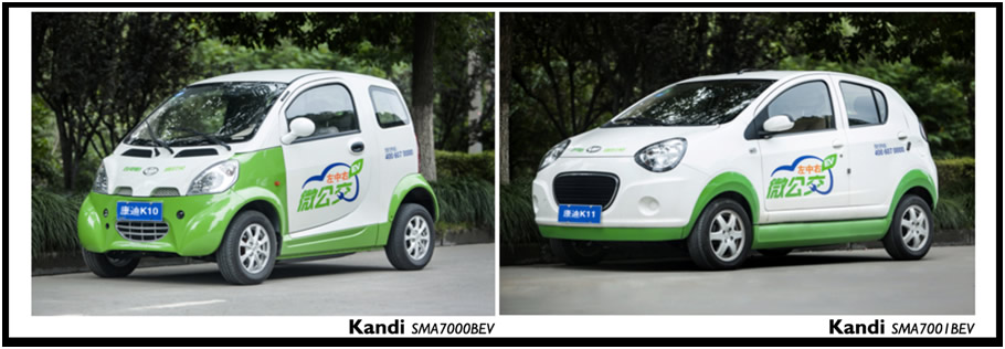 Two Kandi Pure Electric Vehicle Models Are Included in Shanghai's Subsidy Policy for Renewable Energy Vehicles Image courtesy of Kandi Technologies