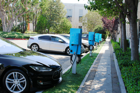 NRG eVgo Completes Largest Corporate Installation of Electric Vehicle Charging Stations in Southern California  Photo courtesy of NRG