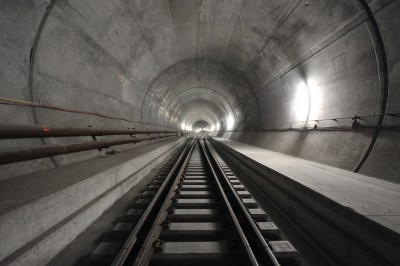 Photo courtesy of AlpTransit Gotthard Last Rails Laid in the Gotthard Base Tunnel, Electrification Coming