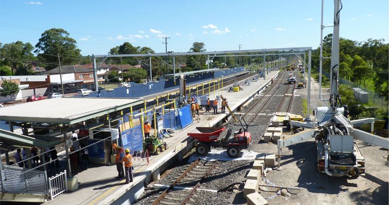 Glenfield Station Photo courtesy of Transport for NSW First test trains hit the tracks on South West Rail Link
